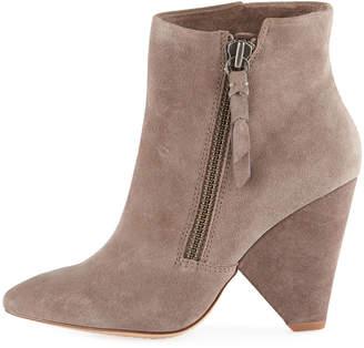 Splendid Neva Suede Cone-Heel Ankle Boots