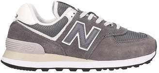New Balance 574 Grey Suede Sneakers