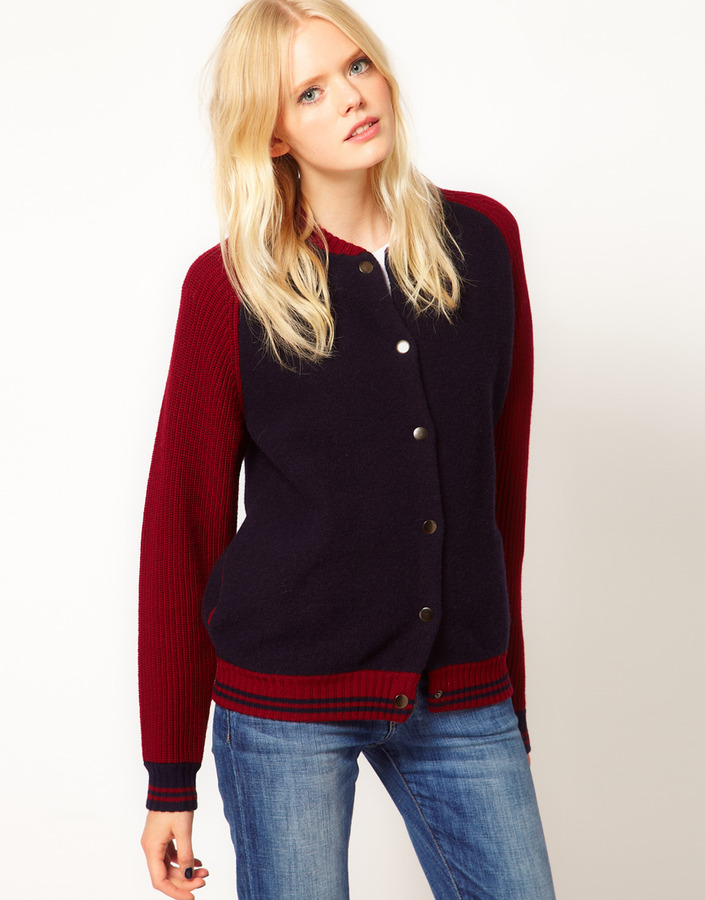 Jaeger Boutique by Chelsea Knitted Varsity Jacket