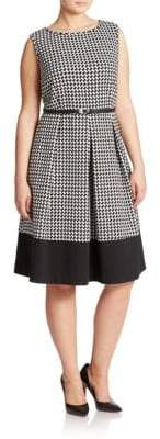 Calvin Klein Plus Pleated Fit-and-Flare Dress