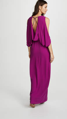 Halston Open Back Gown