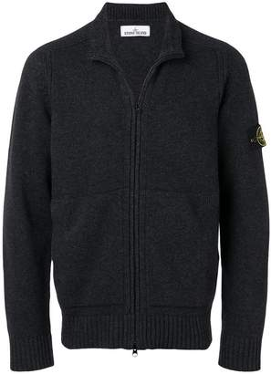 Stone Island zipped knit cardigan