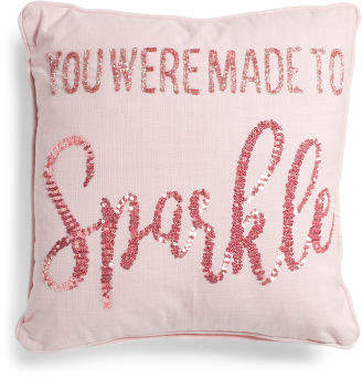 Made In India 18x18 Made To Sparkle Pillow