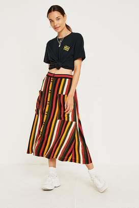 Urban Outfitters Bella Stripe Midi Skirt