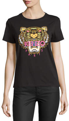 Kenzo Light Single Jersey Tiger T-Shirt, Black $120 thestylecure.com