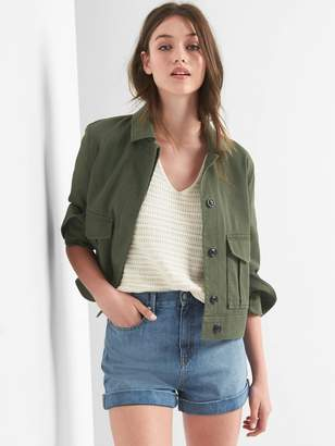 Gap Crop utility jacket
