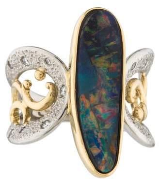 Ring Opal & Diamond Cocktail