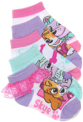 High Point Design Ruffle Paw Patrol Toddler Ankle Socks - 5 Pack - Girl's
