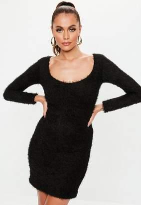 Missguided Tall Black Knit Scoop Neck Mini Dress
