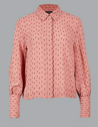 Marks and Spencer Printed Long Sleeve Shirt