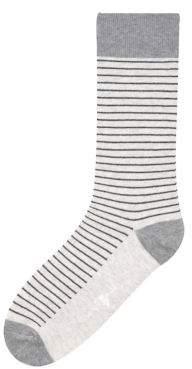 Black & Brown Black Brown Julien Striped Crew Socks