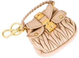 Miu MiuMiu Miu Tan Leather Bag Charm w/ Tags