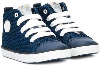 Geox textured hi-top sneakers