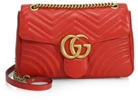 62631d930a6 at Saks Fifth Avenue · Gucci Women s GG 2.0 Medium Quilted Leather Shoulder  Bag - Red Orange