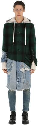 Greg Lauren Hunter Wool & Vintage Denim Coat
