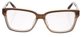 Linda Farrow Bicolor Square Eyeglasses