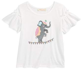 Truly Me Embellished Elephant Graphic Tee
