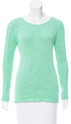 Rachel Zoe Open-Knit Crew-Neck Sweater