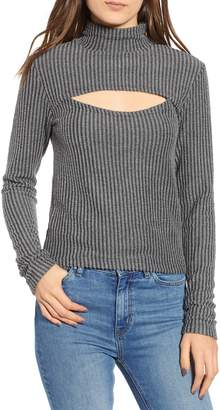 The Fifth Label Spark Cutout Mock Neck Top
