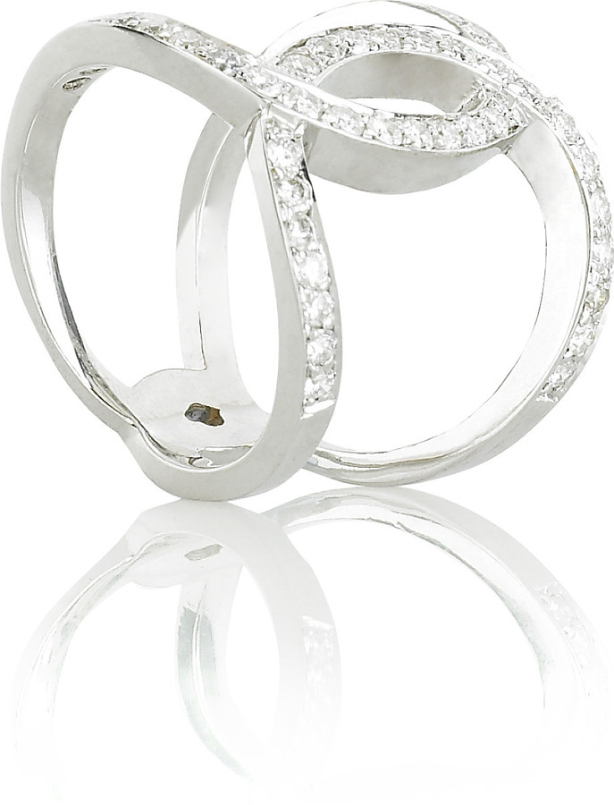 Anita Ko Diamond encrusted Infinity ring