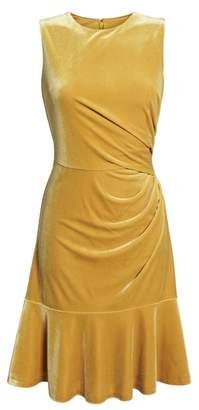 Eliza J Draped Velvet Sheath Dress