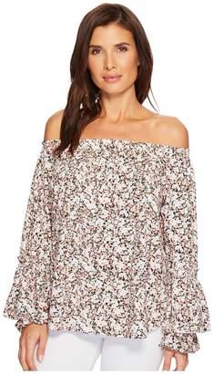 Lauren Ralph Lauren Ruffled-Cuff Floral Jersey Top Women's Clothing