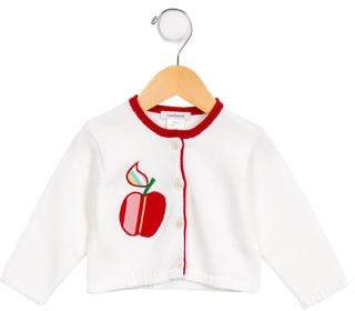 Cacharel Girls' Embroidered Knit Cardigan