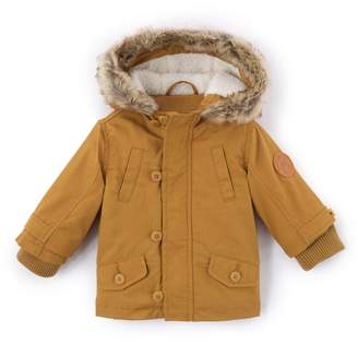 c57cac2a7 3 Months-3 Years Clothing La Redoute Collections Big Boys Parka with Faux Fur  Hood