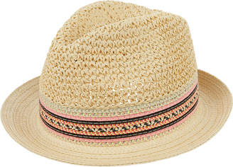 387f2b66d48 Accessorize Roma Crochet Braid Trilby Hat