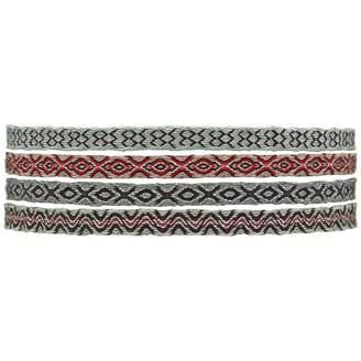 LeJu London - Handwoven Bracelet Set With Sparkly Details