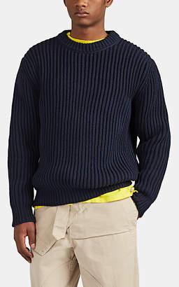 Acne Studios Men's Keene Rib-Knit Cotton-Blend Sweater - Navy