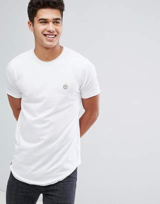 Le Breve Raw Edge Longline T-Shirt