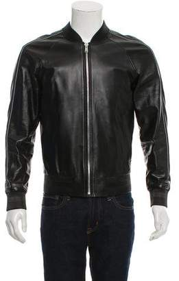 MCM Leather Bomber Jacket