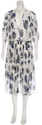 Jason Wu Grey by Floral Midi Dress