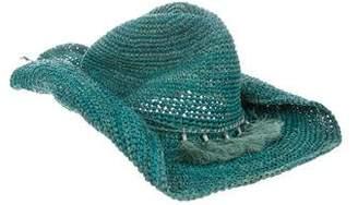 Flora Bella Florabella Raffia Cowboy Hat w/ Tags