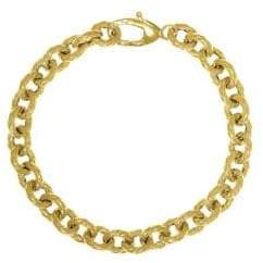 Saks Fifth Avenue 14K Yellow Gold Twist Rolo Link Bracelet