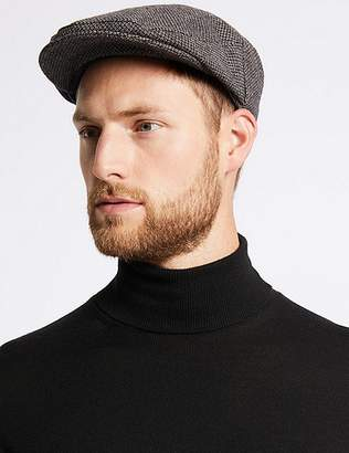 Marks and Spencer Micro Dobby Design Flat Cap