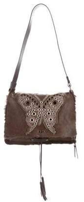 Dolce & Gabbana Shearling-Trimmed Shoulder Bag