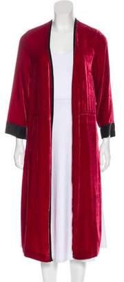 Giada Forte Velvet Long Coat