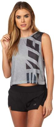 Fox Racing Women's Red, White And True Crop Tank Top-XS