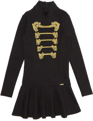 DSQUARED2 (ディースクエアード) - DSQUARED2 ストレッチ ハイネック パスマンタリー風デザイン ドレス ブラック 8y