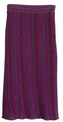 MANGO Stripped ribbed skirt