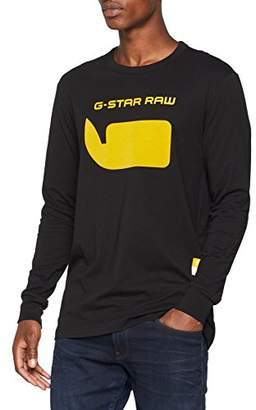 G Star Men's Seii R T L/s Long Sleeve Top, (Dk Black 6484), Medium