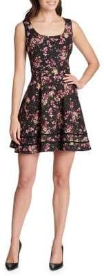 Kensie Dresses Floral Fit-&-Flare Dress