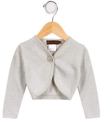 Leon Fleurisse Girls' Metallic Knit Cardigan