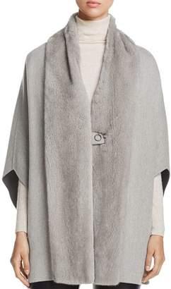 Maximilian Furs Mink Fur-Trim Cape - 100% Exclusive