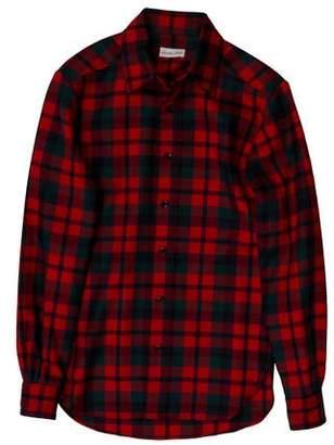 Maxwell Snow Wool Plaid Shirt w/ Tags