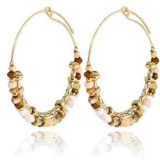 Women's Gas Bijoux Comedia Beaded Hoop Earrings $118 thestylecure.com