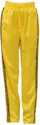Off-White Off White Yellow Pajama Trouser