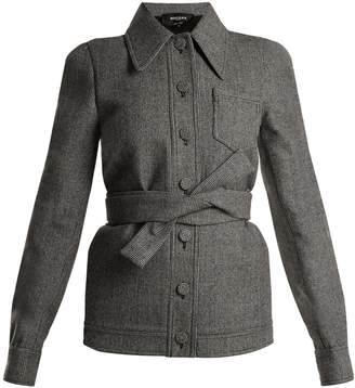Rochas Point-collar hound's-tooth wool jacket